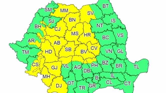 Prognoza meteo miercuri 29 august. Se semnalează averse în toată țara!