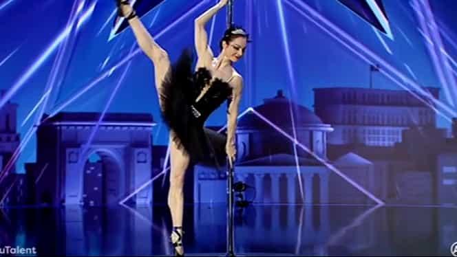 Elena Gibson, poveste de viață uluitoare! Cine e balerina care a dansat la bară la Românii au Talent. Video