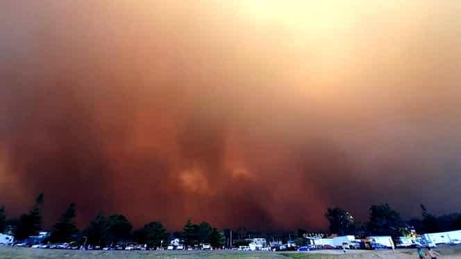 Fumul produs de incendiile din Australia a trecut Pacificul și a ajuns în Chile și Argentina!
