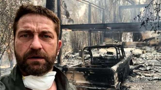 Incendii devastatoare, în California! Gerard Butler și alte vedete și-au pierdut locuințele