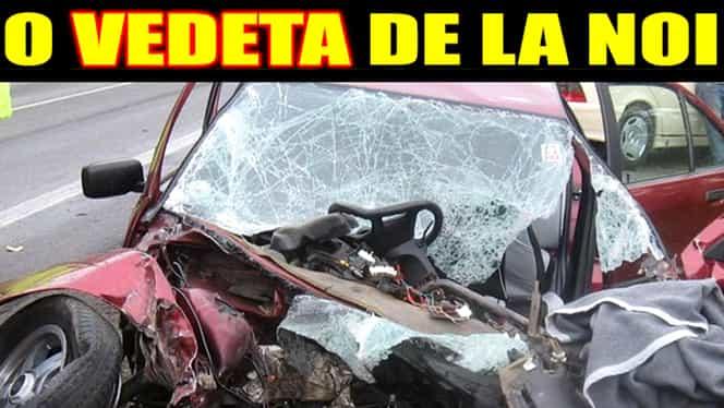 FOTO ŞOC / VEDETA, la un pas de MOARTE! Accident TERIBIL de maşină