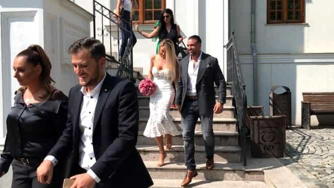 Bianca Drăgușanu și Alex Bodi s-au căsătorit în mare secret astăzi. VIDEO