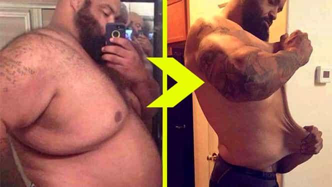 """""""În primul rând, am renunţat la … """" Alex a slăbit 100 kg în 6 luni! TOP 30 – cele mai tari transformări ÎNAINTE/DUPĂ"""