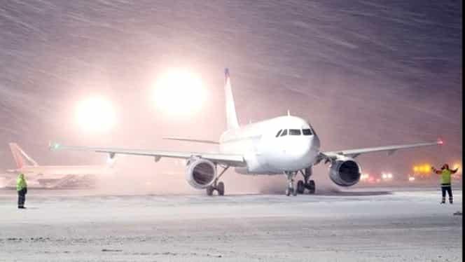 Cod galben de ninsori: ce se întâmplă pe aeroporturile din țară
