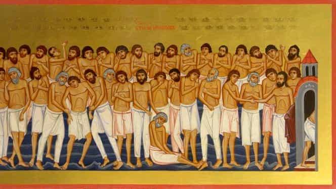 Sfinții 40 de mucenici, sărbătoare mare. Este total interzis să faci asta pe 9 martie. Se spune că e cel mai mare păcat