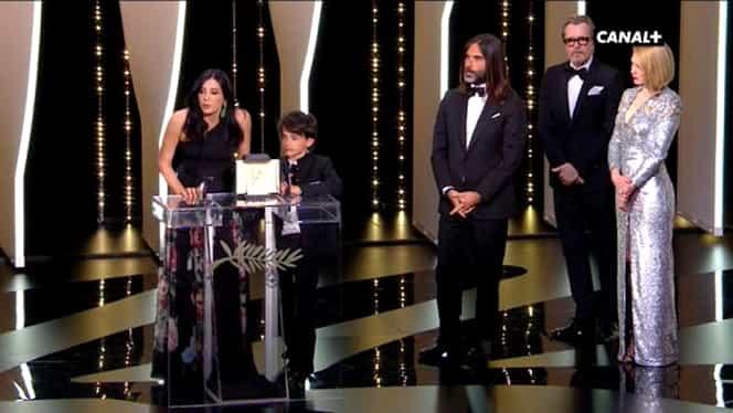 """Trofeul Palme d'Or 2018, câștigat de regizorul japonez Hirokazu Kore-eda cu """"Une affaire de famille"""""""