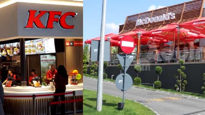 Amenzi de 12.000 de euro pentru KFC și McDonald's după neregulile descoperite recent