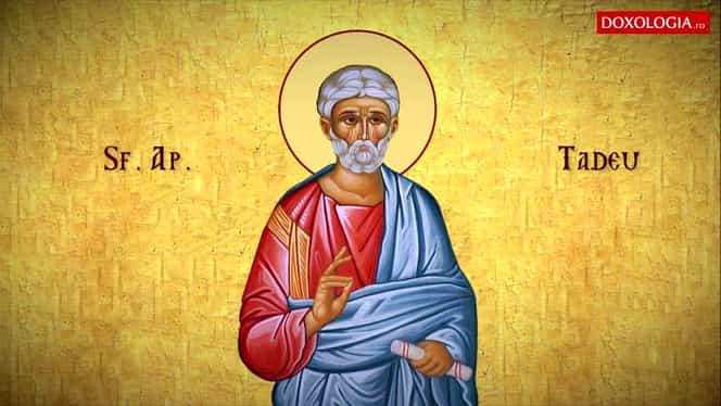 Calendar ortodox miercuri, 21 august. Sfântul Apostol Tadeu, botezat de Sfântul Ioan Botezătorul