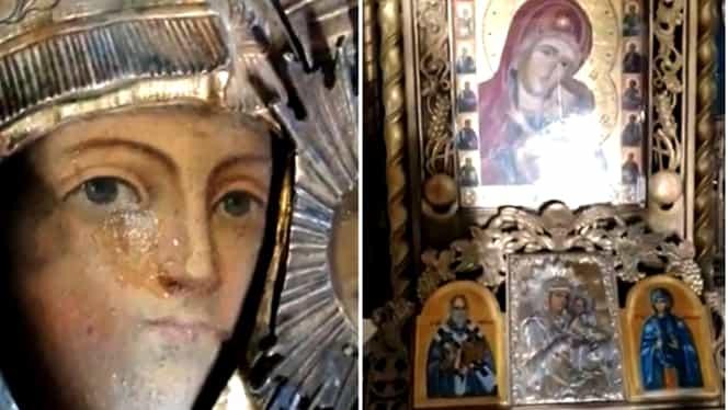 Minune dumnezeiască în București! Maica Domnului a plâns cu lacrimi de mir! Semn divin sau… manipulare?