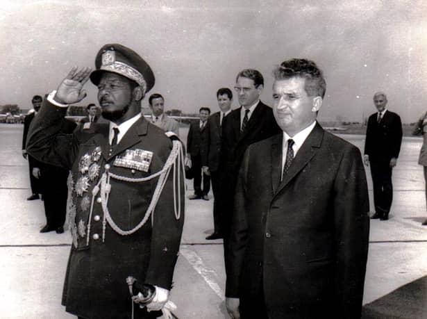 Nicolae Ceaușescu și Jean-Bédel Bokassa, președintele Republicii Centrafricane, un mare prieten al poporului român