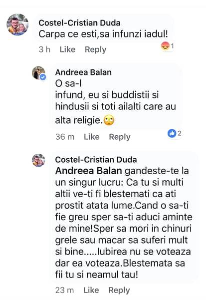 """Andreea Bălan, un nou scandal cu fanii: """"Să o stropim cu benzină!"""""""
