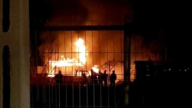 Tragedie în Buzău! Sute de porci au murit în urma unui incendiu