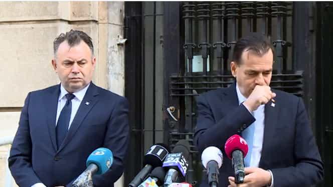 Ludovic Orban are probleme să respecte ce recomandă populației: a dus mâna la gură în timpul unui acces de tuse