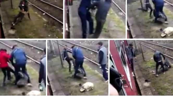 Video. Un călător a fost dat jos din tren şi bătut de controlor. Imaginile au devenit virale