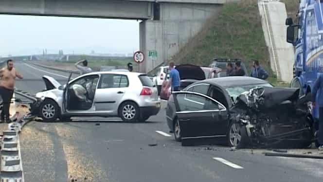 Accident de proporţii! Autostrada Bucureşti – Piteşti, blocată!