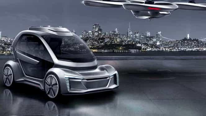 """Mașina zburătoare devine realitate: Audi și Airbus vor testa conceptul """"Pop.Up"""""""
