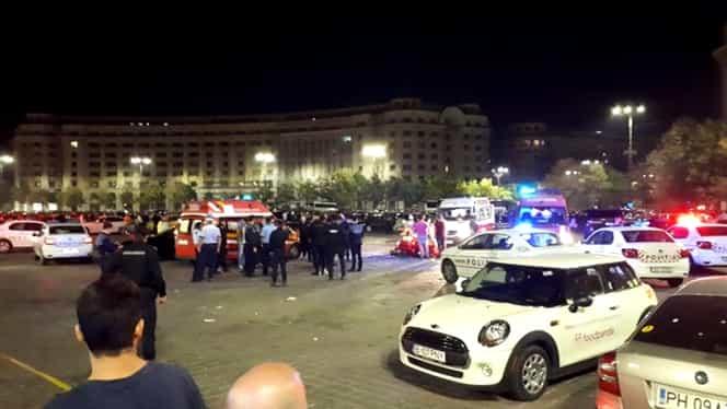 Șase persoane reținute după bătaia cu săbii din Piața Constituției în urmă căreia un om a murit și altul a fost rănit grav