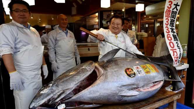 Record în prima licitaţie a anului din Japonia! Un ton roşu uriaş, vândut pentru 1,8 milioane de dolari