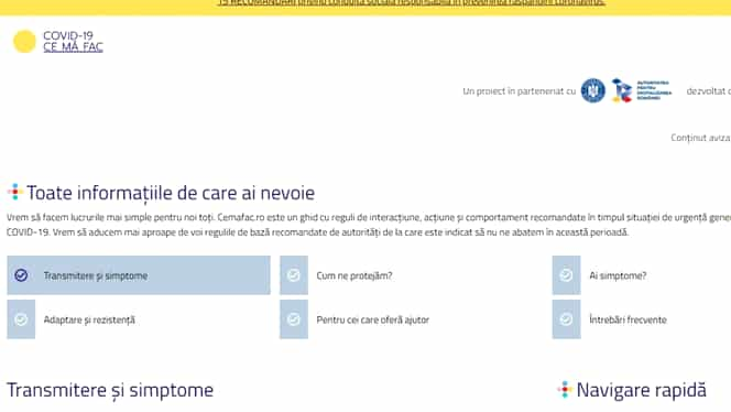 Guvernul a lansat o platformă dedicată populației României în lupta cu coronavirus