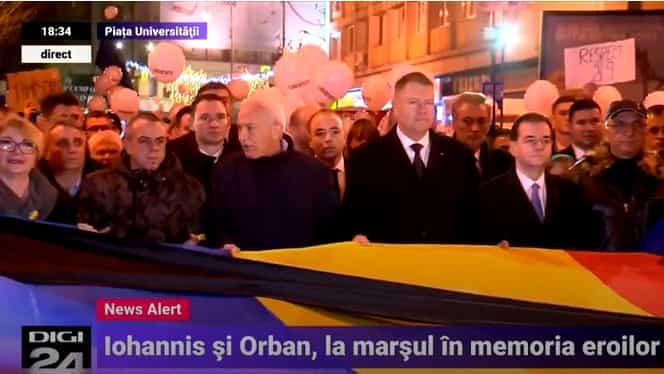 Marșul de comemorare a eroilor de la Revoluție. Klaus Iohannis, prezent la eveniment