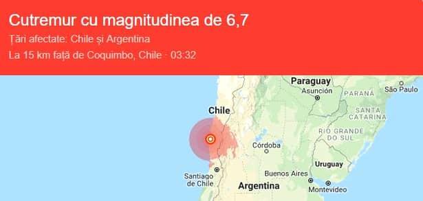 Cutremurul s-a resimțit și în Argentina