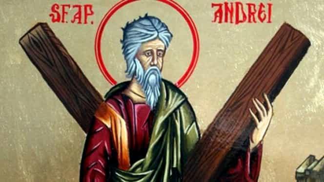 Calendar ortodox 30 noiembrie. Este prăznuit Sfântul Andrei, ocrotitorul României
