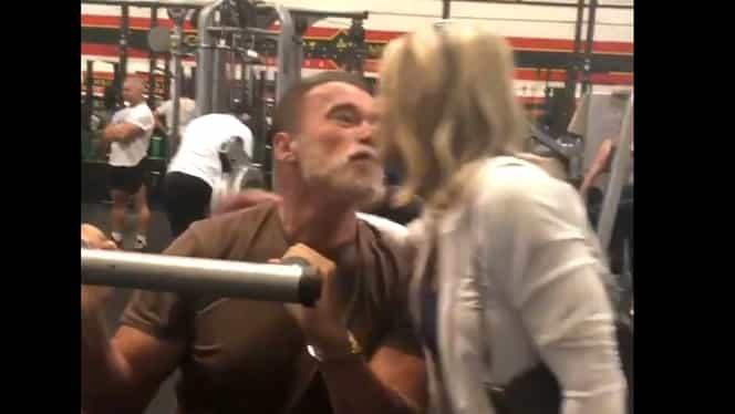 """Nadia Comăneci, apariție de senzație alături de Arnold Schwarzenegger: """"Asta este relația noastră"""" VIDEO"""