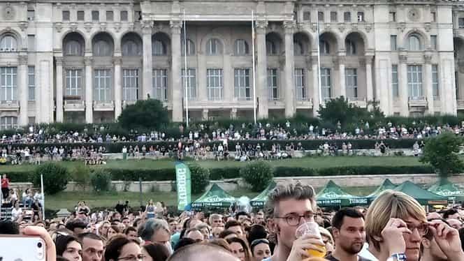 Scandal după concertul Bon Jovi. Cum au văzut mai mulţi bugetari spectacolul gratis, la Palatul Parlamentului