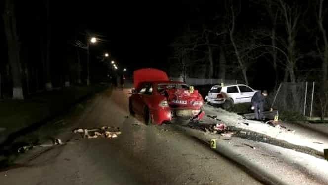Accident teribil de Înviere! Doi tineri au zburat prin geamuri!