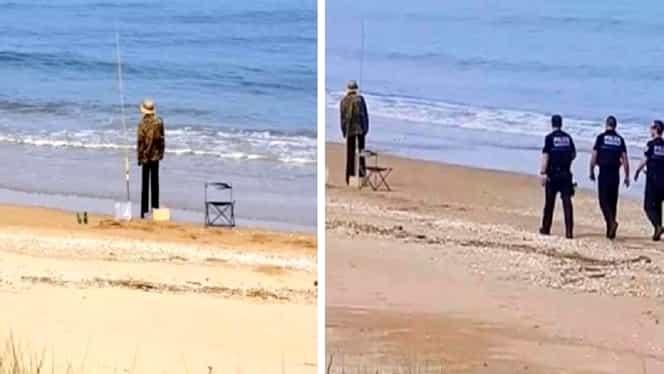 Un polițist voia să amendeze un pescar care încălca izolarea. Ce a văzut când s-a apropiat de el
