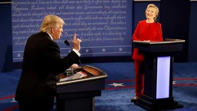 ALEGERI SUA: Dezbatere contondentă între candidaţii Hillary Clinton şi Donald Trump