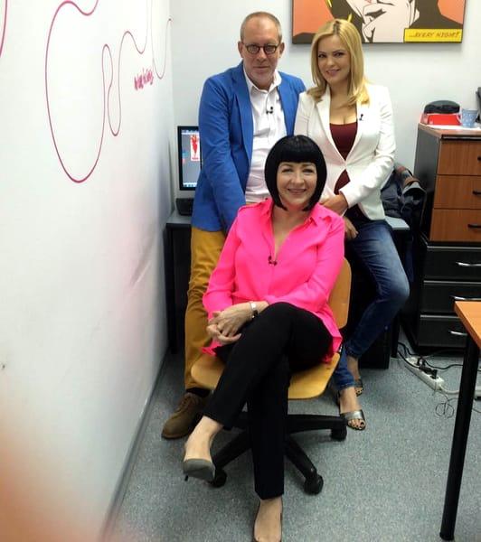 Neti Sandu, în culise, cu Florin Busuioc și Lavinia Petrea
