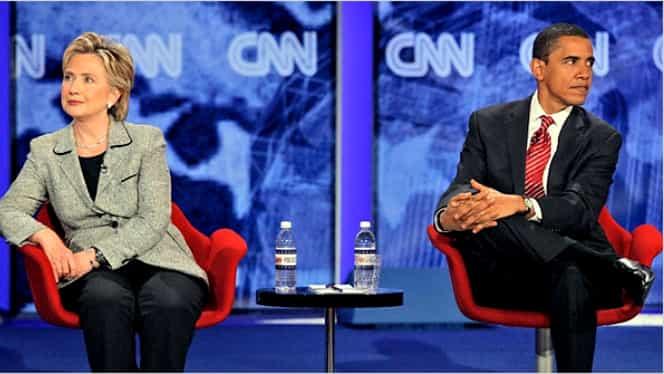 Obama glumeşte pe seama lui Hillary Clinton