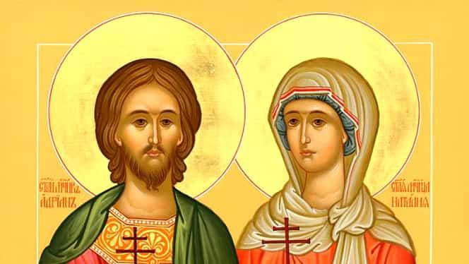 Calendar ortodox, luni, 26 august. Sfinții Adrian și Natalia, ocrotitorii familiei