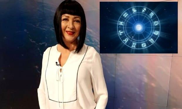 Neti Sandu, prezentând horoscopul