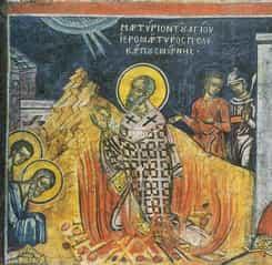 Calendar ortodox 23 februarie: Pomenirea Sfântul Policarp, pe care flăcările nu l-au ars