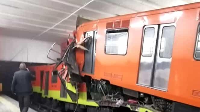 Două trenuri de metrou s-au ciocnit în Ciudad de Mexico. O persoană a murit și alte 41 au fost rănite