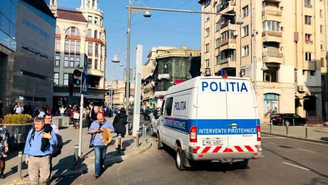 Alertă cu bombă la o bancă din București, situată pe Calea Victoriei. Circulația în zonă a fost oprită