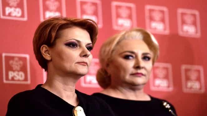 Viorica Dăncilă și Lia Olguța Vasilescu au petrecut după ce a căzut Guvernul PSD. FOTO