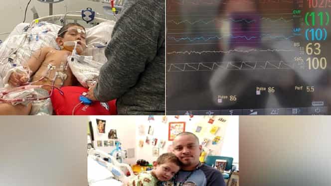 """Miracol în plină pandemie pentru un băiețel de 6 ani. Micuțul a primit o inimă nouă: """"Mami, o să mă doară?"""""""