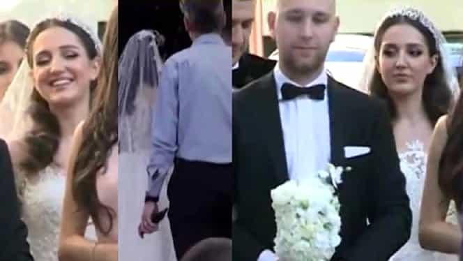 Imagini cu Teodora Becali în rochie de mireasă. Emoții pentru familia lui Gigi la cununia religioasă – GALERIE FOTO