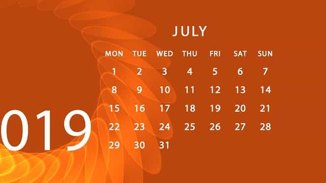Zile libere pentru români în 2019
