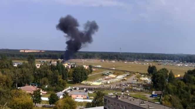 Accident aviatic lângă Moscova. Momentul prăbuşirii a fost filmat