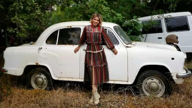 Poza cu Gina Pistol, chiar înainte să înceapă Asia Express. Iubita lui Smiley prezintă emisiunea de la Antena 1