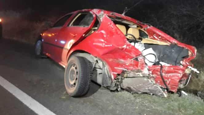 Accident grav în Olt între două mașini și un TIR. 5 persoane au fost rănite în urma coliziunii