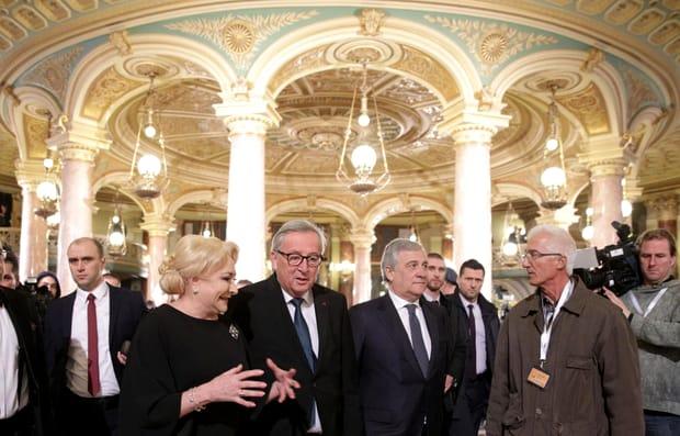 Viorica Dăncilă și Jean-Claude Juncker