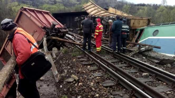 Tren deraiat în România. Traficul feroviar este blocat