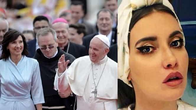 """Iulia Albu critică ținuta purtată de Carmen Iohannis la vizita Papei: """"Abuzează de un privilegiu care nu îi aparține"""""""