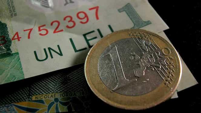 CURS BNR. Leul continuă să se prăbuşească în raport cu euro