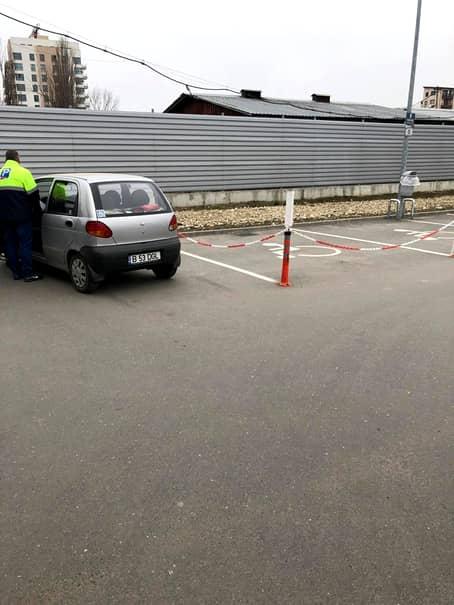 masina blocata supermarket